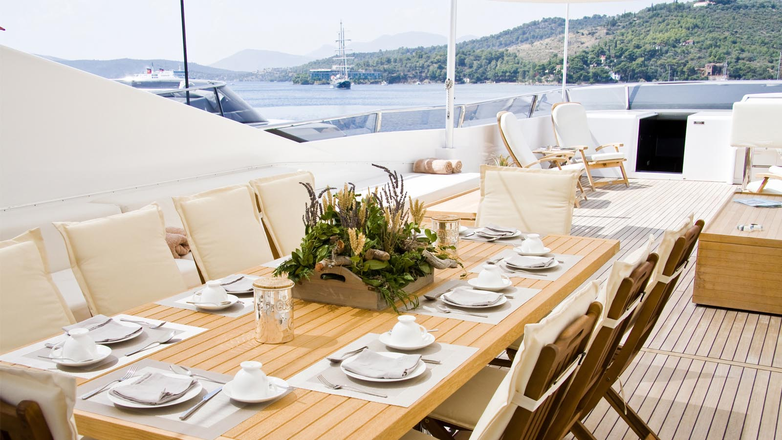 Eating aboard, Luxury