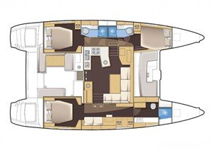 Rent a three cabins catamaran